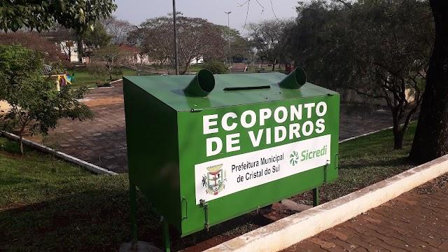 Ecoponto de Vidro foi instalado em Cristal do Sul.