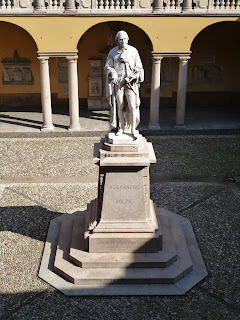 A statue at the University of Pavia commemorates Volta's work