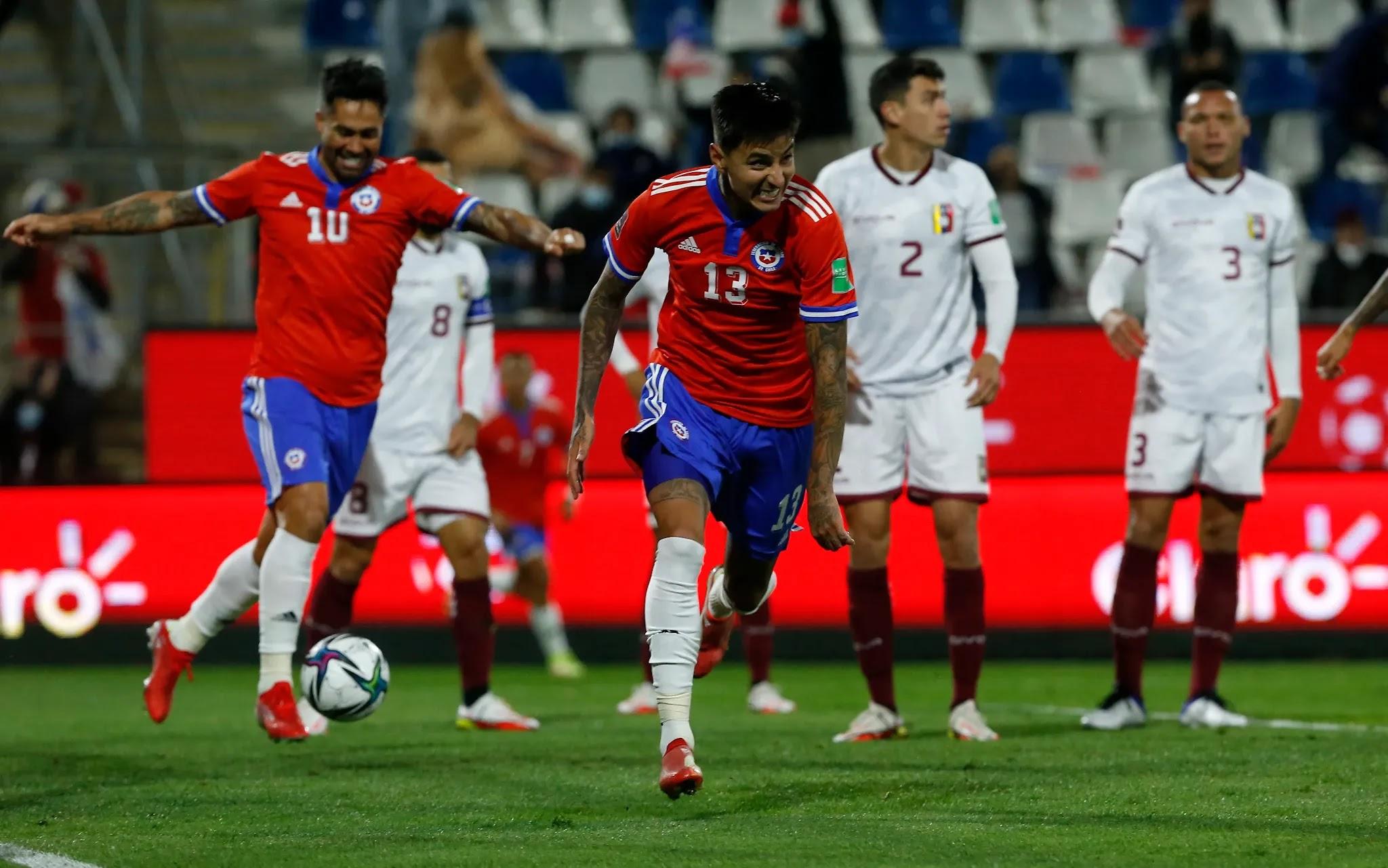 Chile y Venezuela en Clasificatorias a Catar 2022, 14 de octubre de 2021