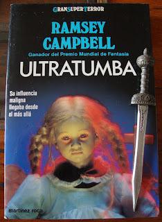 Portada del libro Ultratumba, de Ramsey Campbell