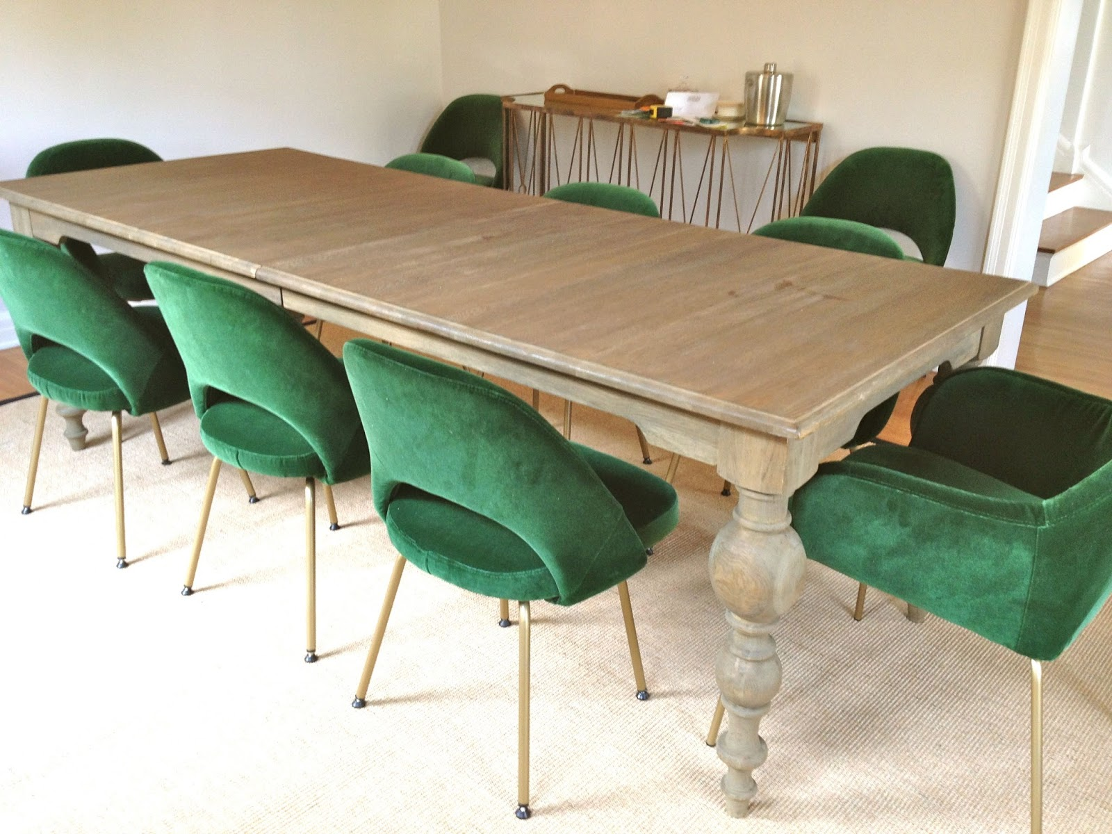 Green Dining Room Chairs Ergonomic Chair Design Rosa Beltran Sneak Peek Velvet Saarinen