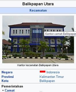 kode Pos Kota Balikpapan Regency Utara