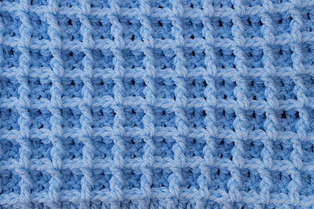 1 - Crochet Imagen Punto gofre o waffle a crochet y ganchillo por Majovel Crochet
