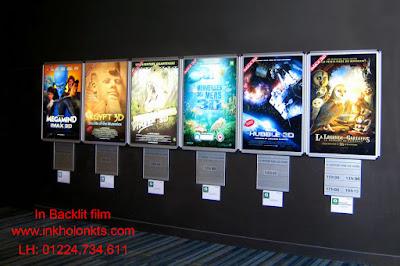 In Backlit film hộp quảng cáo rạp chiếu phim