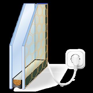 Деревянный стеклопакет с электроподогревом