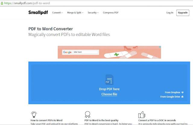 cara tukar pdf file ke word