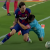 Unai Bustinza tackles Leo Messi rugby-style