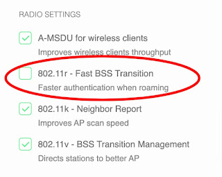 802.11r - Fast BSS Transition