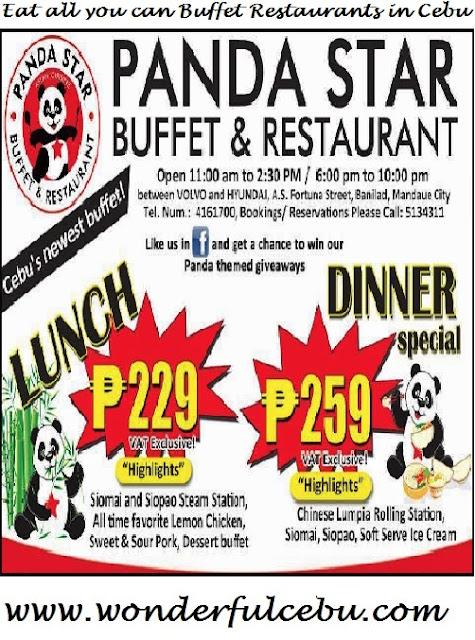 Panda Star Eat all you can in Cebu