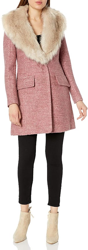 Women's Coats Jackets with Faux Fur Collar