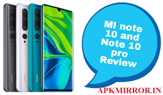 Mi Note 10 and Note 10 Pro