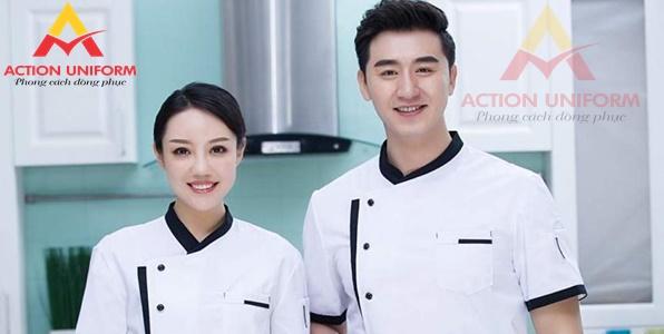 Đồng phục bếp màu trắng