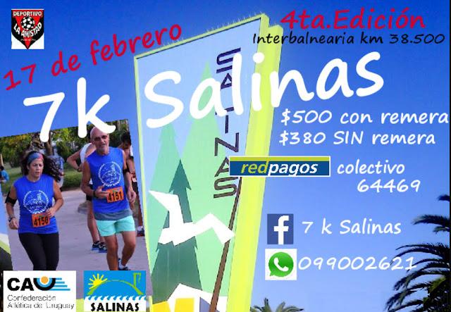 7k Salinas por Club Deportivo La Amistad (Salinas - Canelones, 17/feb/2018)