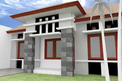 tiang rumah minimalis dari batu alam