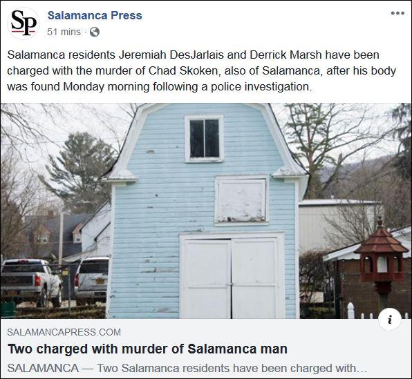 https://l.facebook.com/l.php?u=http%3A%2F%2Fwww.salamancapress.com%2Fnews%2Ftwo-charged-with-murder-of-salamanca-man%2Farticle_9705659e-36f1-11ea-993c-e7b4ab5907cf.html%3Ffbclid%3DIwAR0lYxZxsGiJwjV-rNEFV85dCeGGzcie5zQttkAP6TCEVaMB8nmCxOMHKTw&h=AT1BPcHtkMXMwyjrHYjL-7zI6V48aNRJkqa9NTqM_TN9e2O8wZef2erzcNVX88SpUodUu7xbW4Wsp_Zp7r3IaMyVnZWj-dj5MQE_0vxJxXJqyvMesoomcTTaossFZpFHNCHDnNeufjjke2QC1eEIZFAWA2NNWKKSl7dW-ebgfp3K0-r21ZqOvoJtt9Y2gDrbzy5Cn6xO2jDJCAKIPq29JrtesWgbHNU6B8GO0hPkoPDFZCG_OCBhQ2mu5-8SiUlh1UyewksuE4ZHIaDoVjOy8QnwqnCs8ccHFrLthJSOWnTIufA59ZHjLSNgBQs14BZtCfobQ_RkqK1HDsUz8QHcjktdnHA-tUOOc74sLQeiu6FK5Ukn0K_2tTWWMB5h6OCdF1NTRkQ18vGfbnDotXUoZJlxvuGEtozbTAeMUr2uH2EUQ3A6UovbB5urCm1ClhZa56NT2YWZU1m5w9CFc5tAyfrZPZKh2aP-6UIB9pnwwDo55sxcBLDSaB9aMcai8zSo7JxGD5I0nFa3_MDXYanOhjkT0AE6_gr9DQyuwofpdPvSvUb_MAE0aFD98QgjS5pTfIyrIz4g48aZ4mK0y9-Ke2zP95Xn-a5HqyLlcoWMIE96KYIq1a4xL_qv2bZ4lIBdEpbxFsB2SpxP-F79VxL0lv3CsIRoGqwcrpL27BPZWA