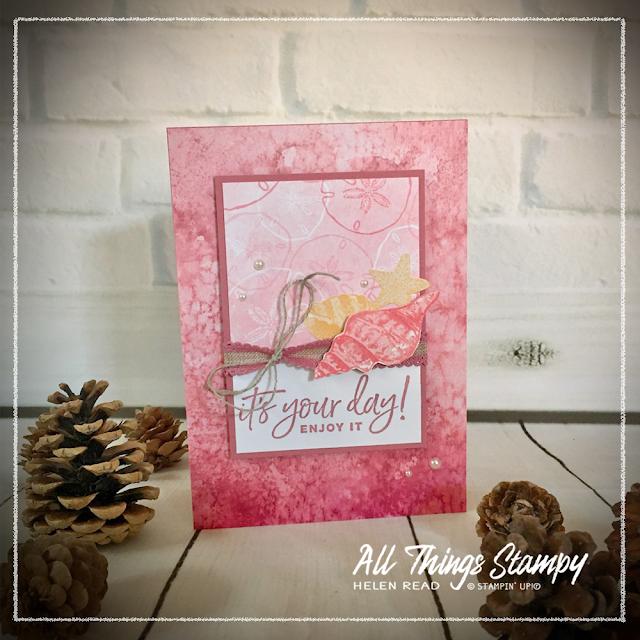 Sand & Sea Designer Series Paper Stampin Up card idea