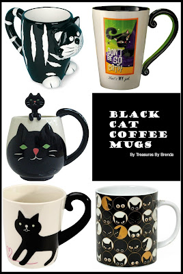 Treasures By Brenda 31 Days Of Coffee Mugs A Clowder Of Black Cat