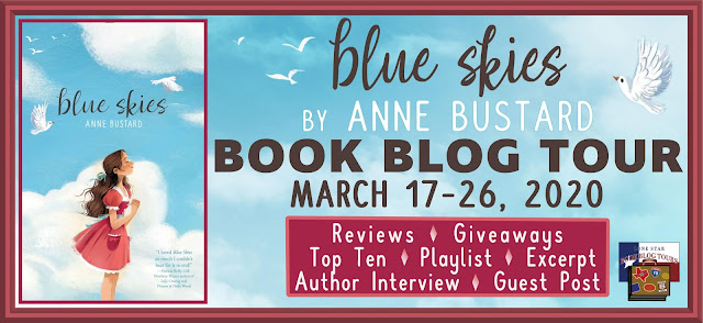 Blue Skies book blog tour promotion banner