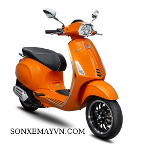 Bán Sơn xe máy màu cam tươi Vespa LX Liberty