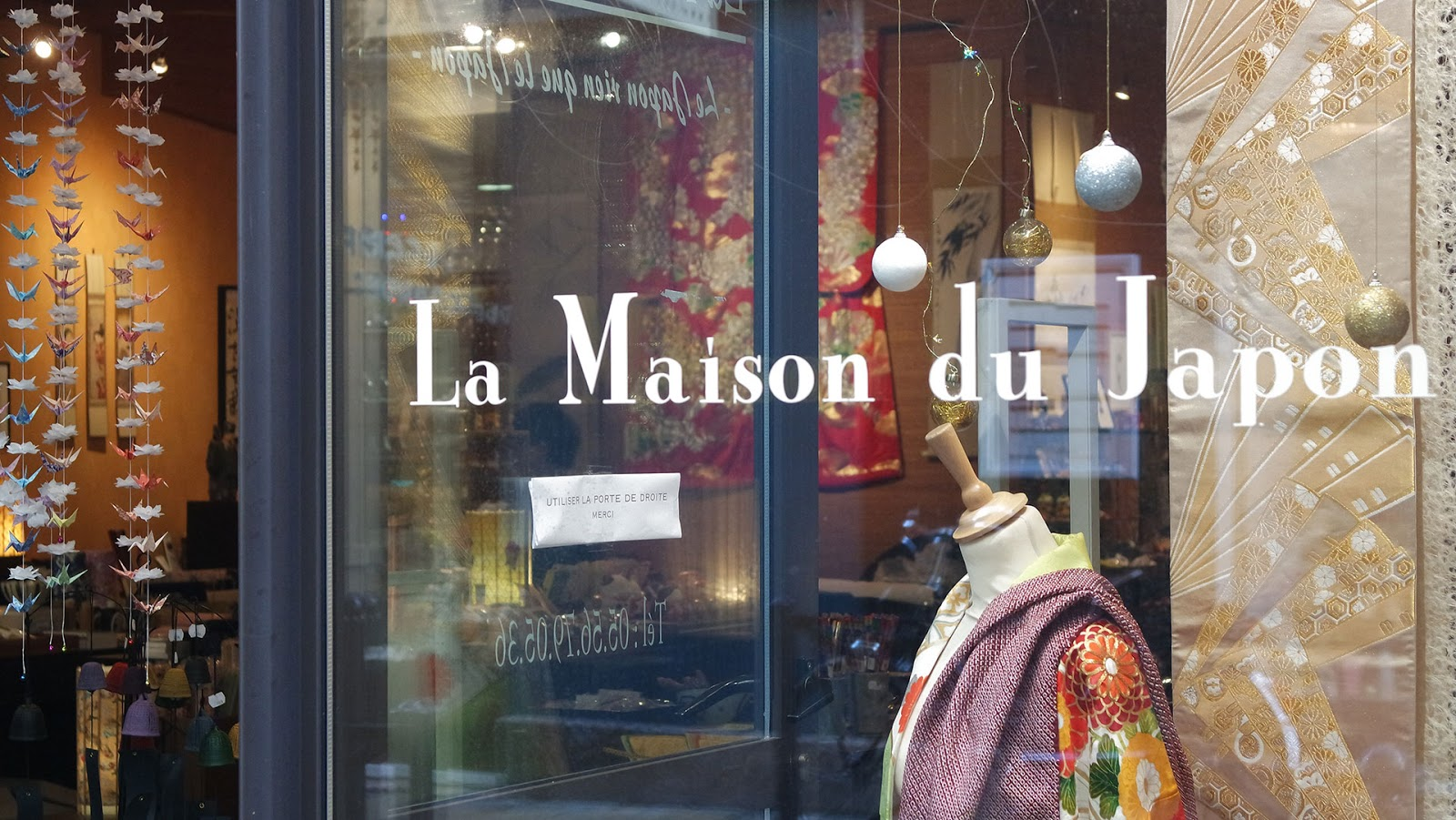 Showcase of La Maison du Japon