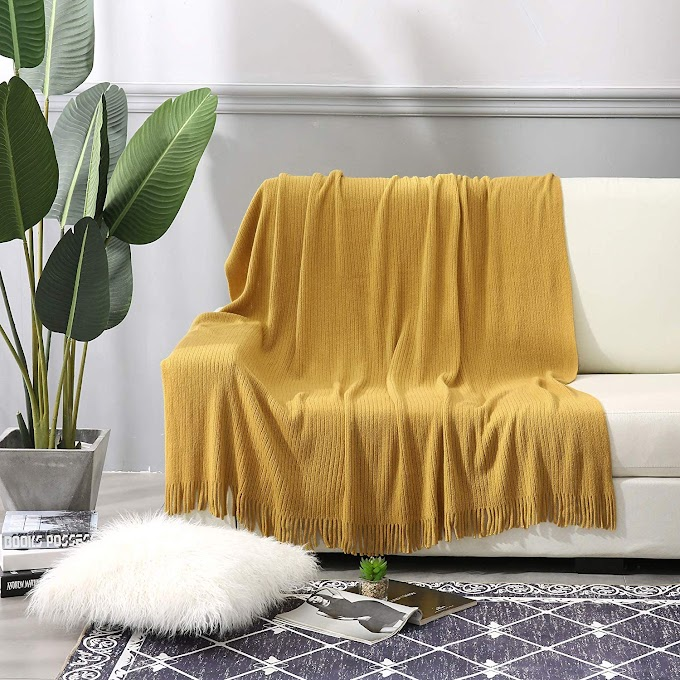 """AMAZON - 30% off Throw Blanket 50"""" x 60"""" for Couch,Sofa, Chair, Bed, Decorative Blanket"""