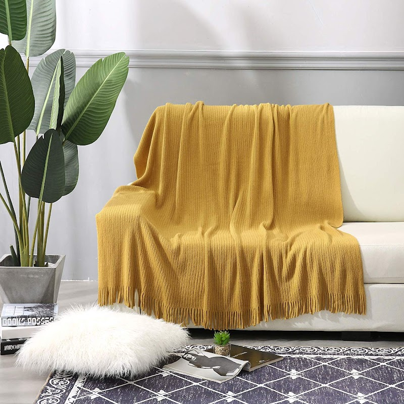 "AMAZON - 30% off Throw Blanket 50"" x 60"" for Couch,Sofa, Chair, Bed, Decorative Blanket"