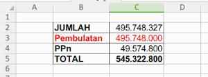 Pembulatan Excel