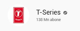 t-series kanalı abone sayısı