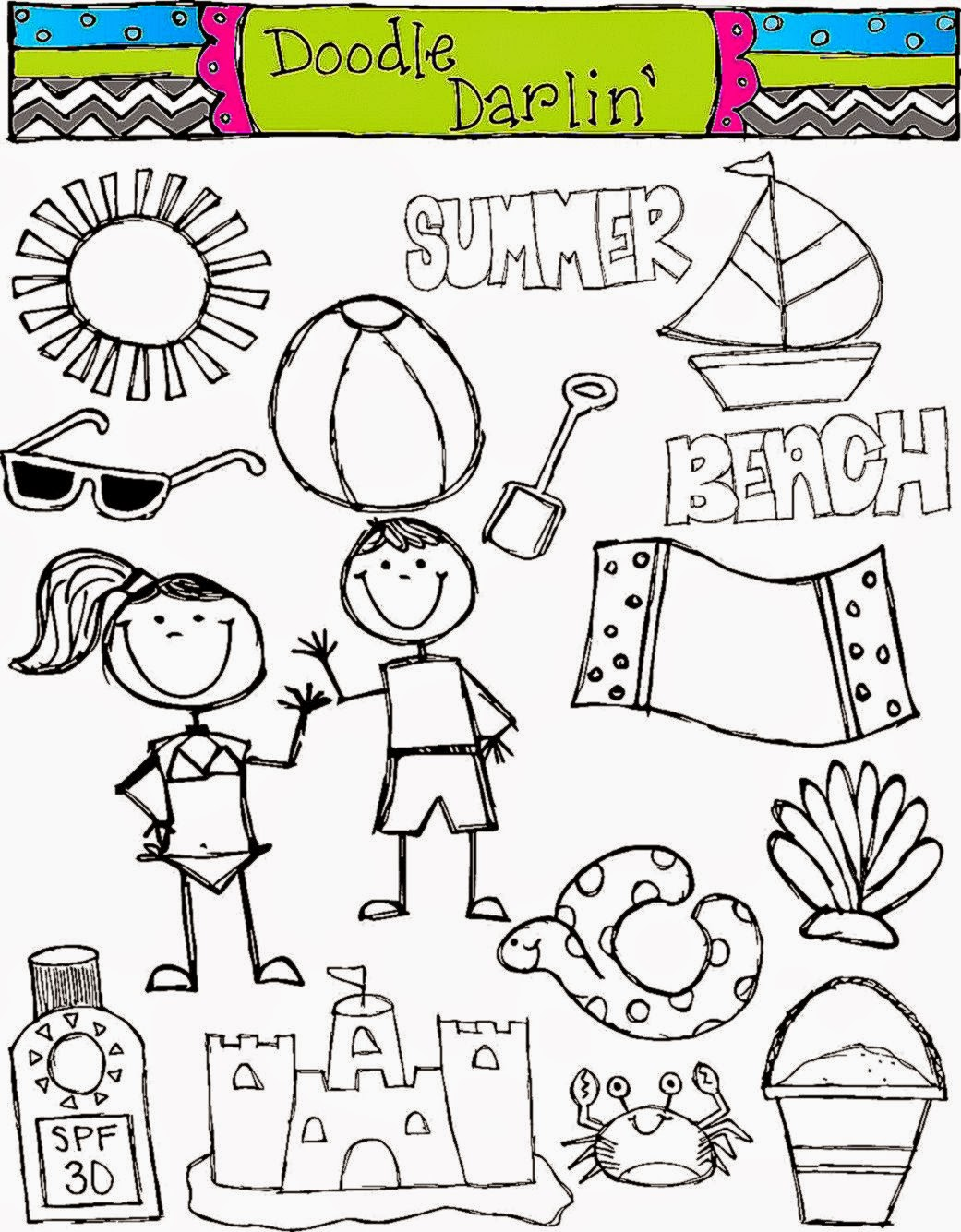 Beach Clip Art Black And White | Amazing Wallpapers