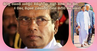 Story of former president Maithri being deserted by security on the road and thus not being able to attend 4th Freedom Day
