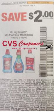 Colgate Mouthwash insert coupon