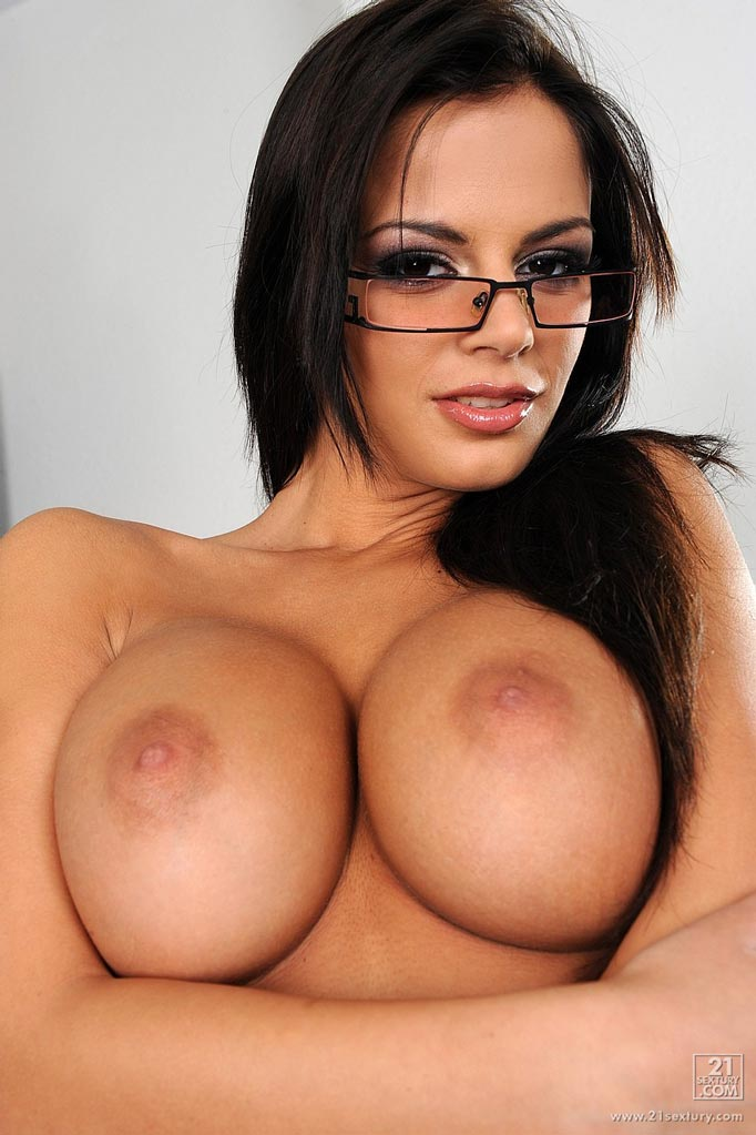 Busty brunette beauties nude