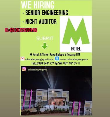 Lowongan Kerja M Hotel Sebagai Senior Engineering dan Night Audito