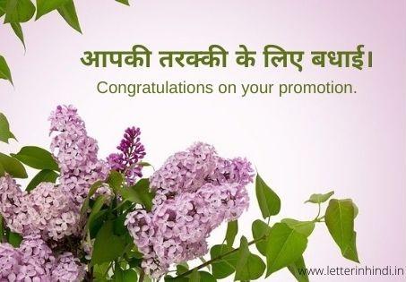 Promotion Wishes in Hindi (जॉब में प्रमोशन की बधाई संदेश)