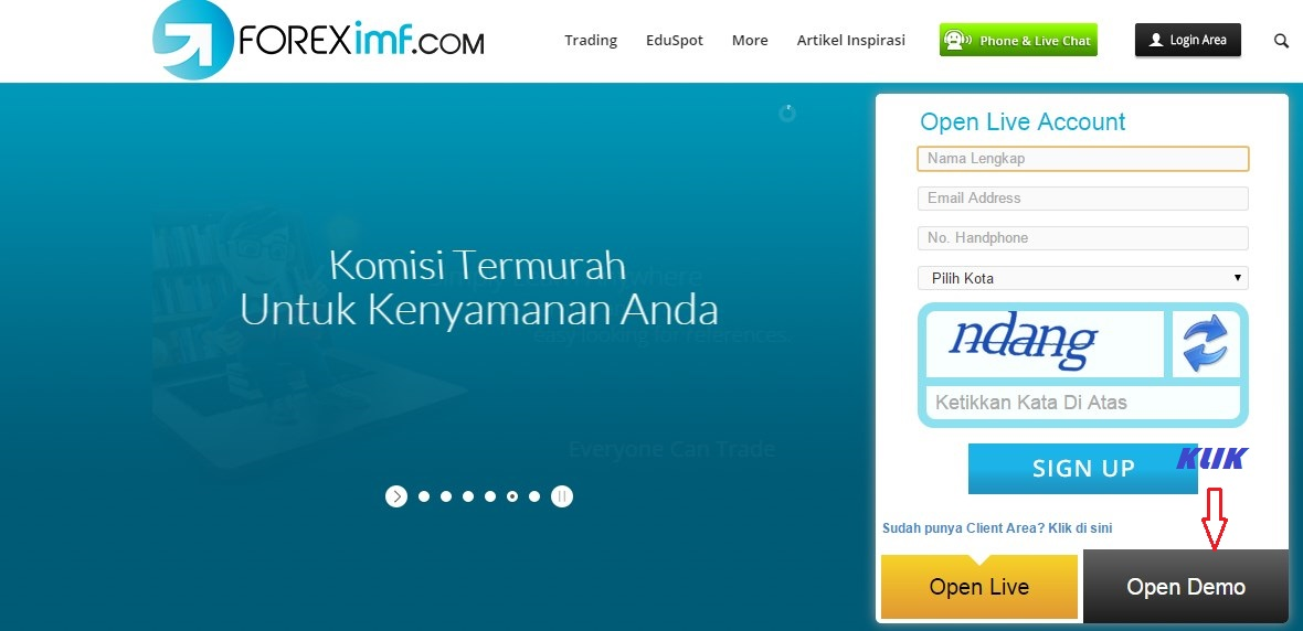 Foreximf login