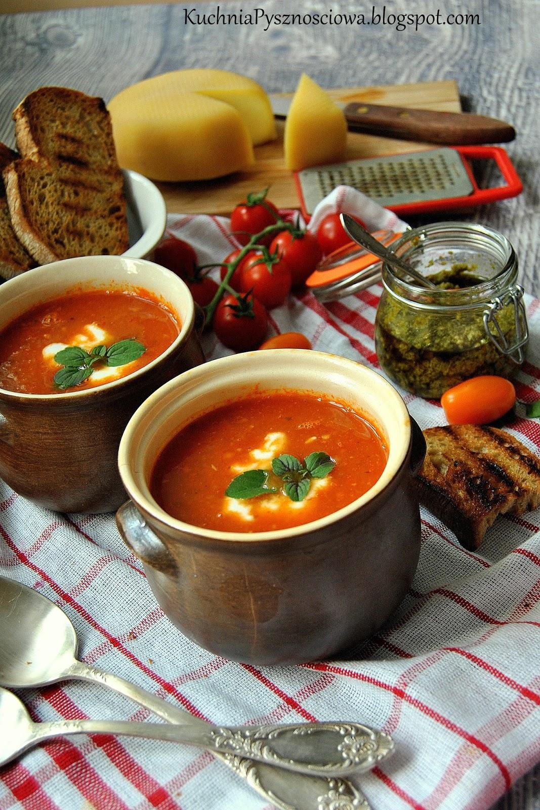 437. Zupa krem z pieczonych pomidorów