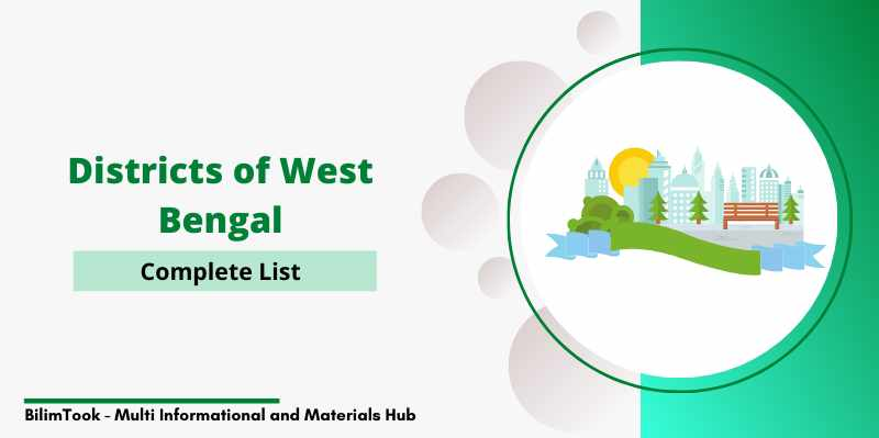 Complete list of districts of West Bengal