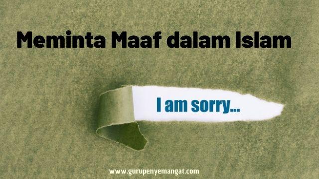 Meminta Maaf dalam Islam