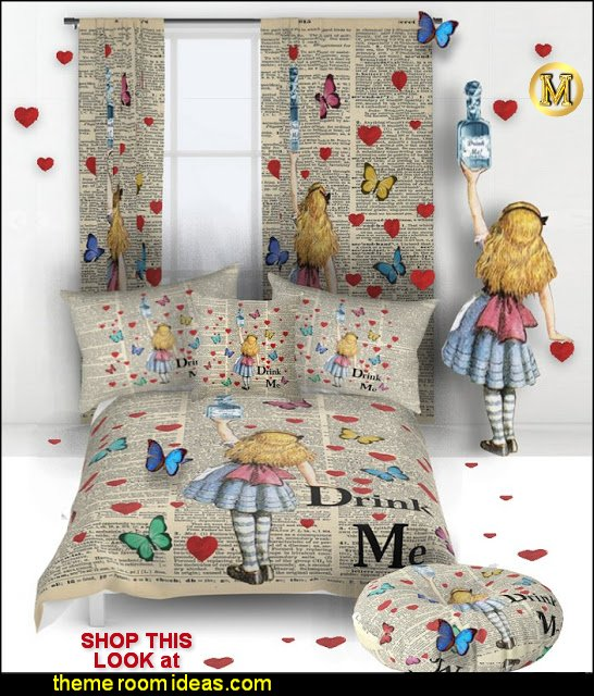 Drink Me Vintage Dictionary Page Alice In Wonderland bedding   Alice in wonderland themed rooms - design  an Alice in Wonderland Bedroom  - Alice in Wonderland bedroom ideas - Alice in Wonderland bedding - Alice in Wonderlnd wall decals - Alice in Wonderland wall murals - alice in wonderland wallpaper mural -  tea party theme - alice in wonderland bedroom furniture   newsprint bedroom decorating