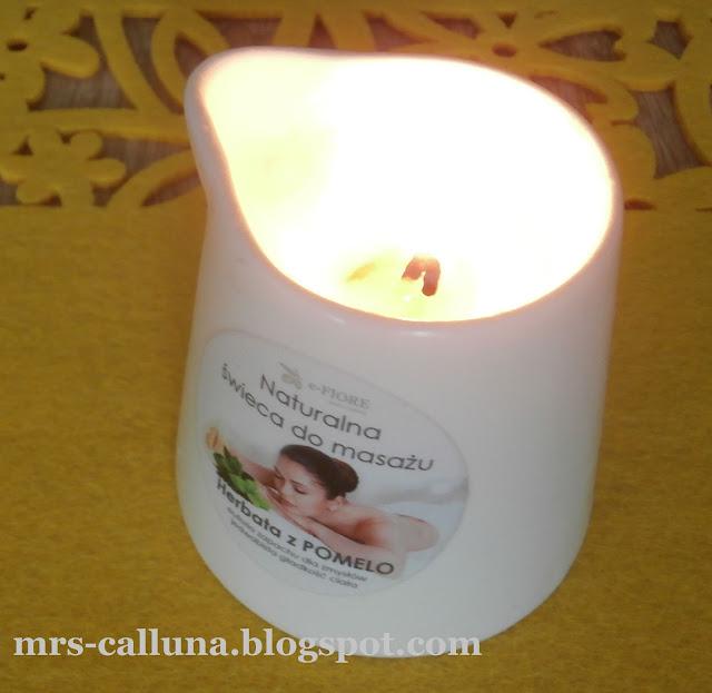 Świeca do masażu herbata z pomelo e-Fiore - recenzja