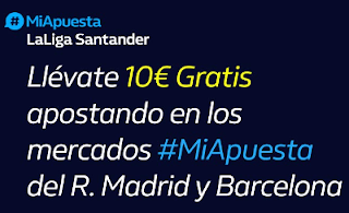 william hill Consigue 10€ Real Madrid y Barcelona 9-11-2019