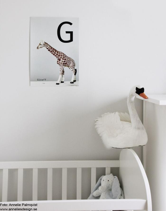 annelies design, webbutik, webbutiker, barnrum, poster, posters, giraff, giraffer, tavla, tavlor, svan, svanar, inredning, dekoration, prydnad, barnrumsinspo,