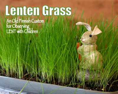 Lenten Grass ♥ KitchenParade.com, an old Finnish tradition to observe Lent with children.