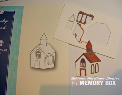 fall country house card colored church