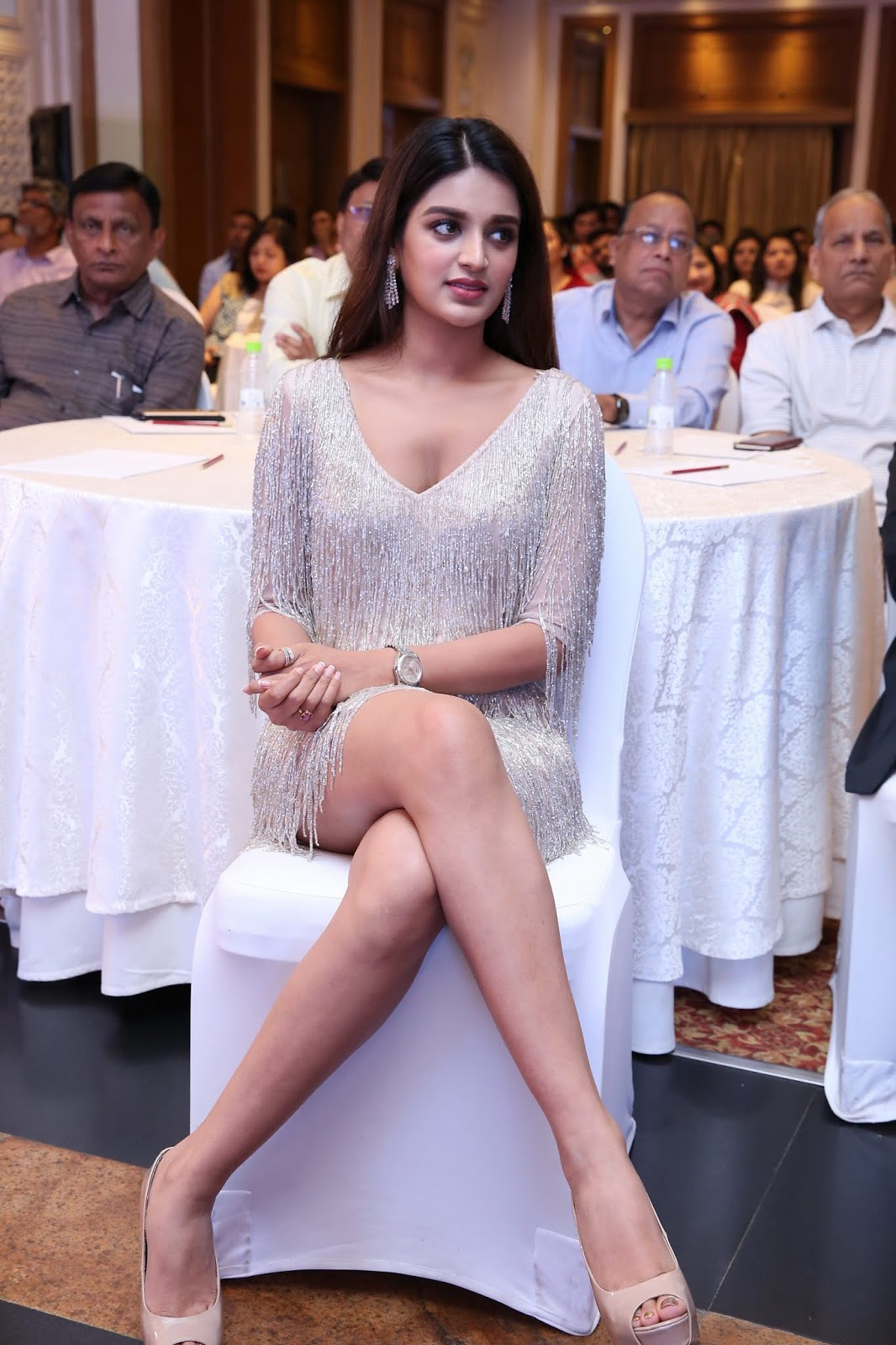 Nidhhi Agerwal Incredible Legs Shown At JITO Ceremony