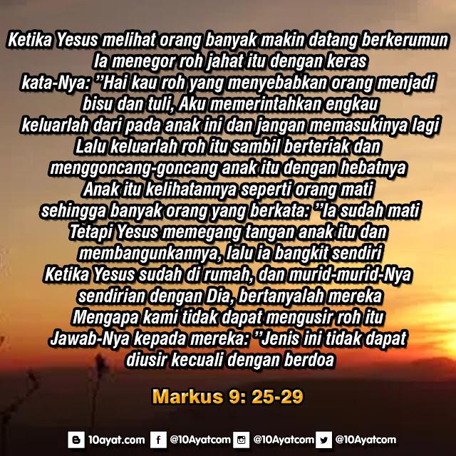 Markus 9: 25-29