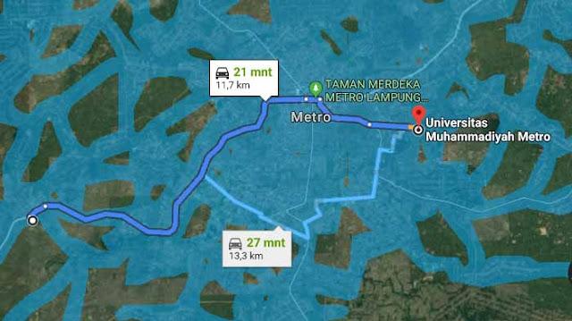Google Map Lokasi UM Metro