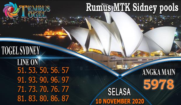 Rumus MTK Togel Sidney Hari Selasa 10 November 2020