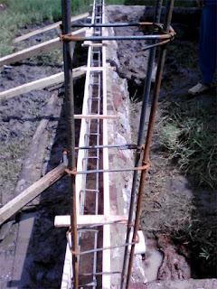 pengecoran sloof pondasi rumah