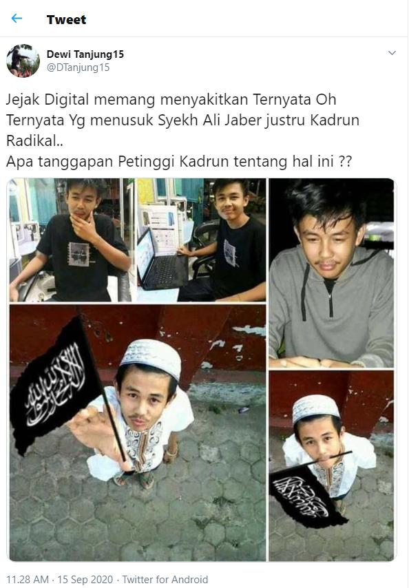 Dewi Tanjung Sebut Pelaku Penusuk Syekh Ali Jaber Kadrun Radikal, Sembari Pasang Foto Editan